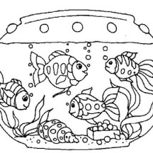 Netart 1 place for coloring for kids part 13 for Fish tank coloring pages