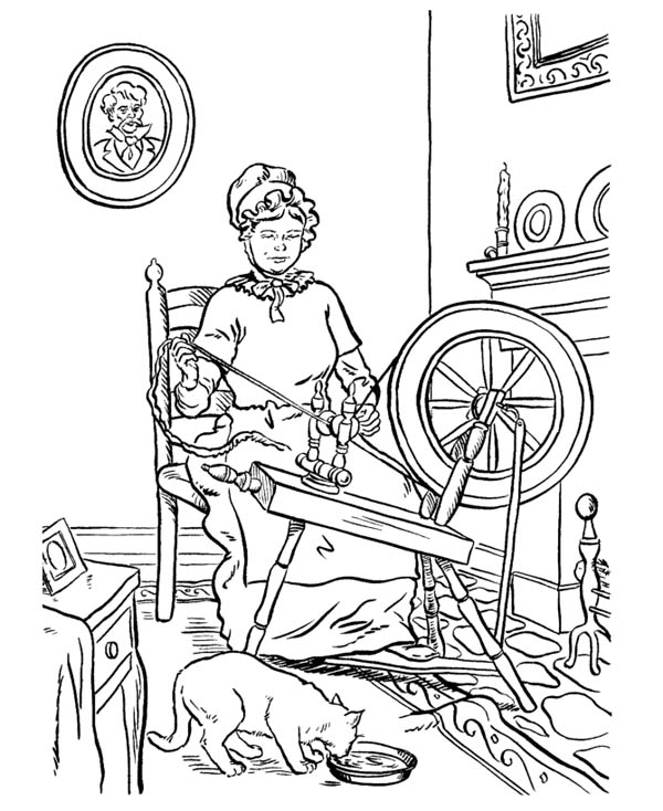 weaving coloring pages - photo#2