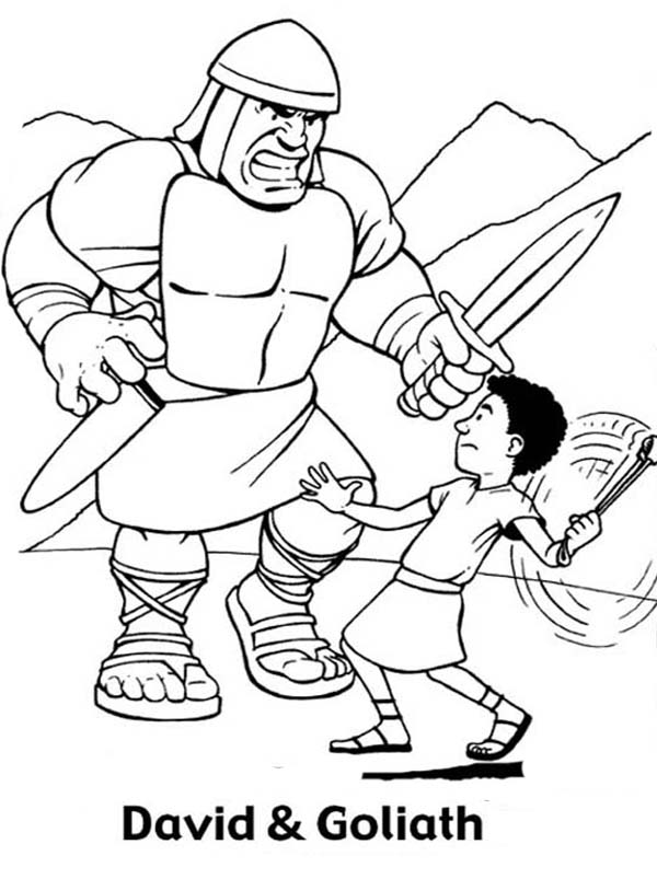 Great Battle David Versus Goliath In The Bible Heroes