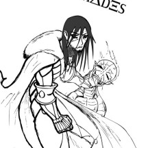 Hades Defeat His Enemy Coloring Page