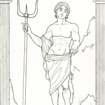 Hades God of the Dead and Riches Coloring Page
