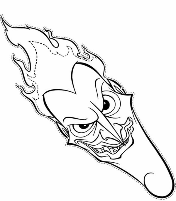 hades head picture coloring page
