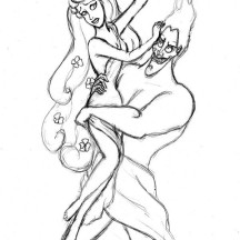 Hades Kidnap Persephone Coloring Page