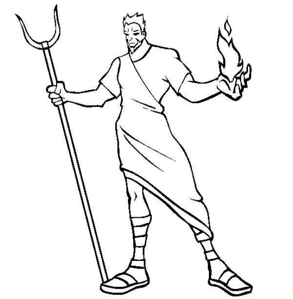 Here home hades hades the greek myth god coloring page