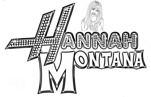 hannah montana coloring page for kids netart