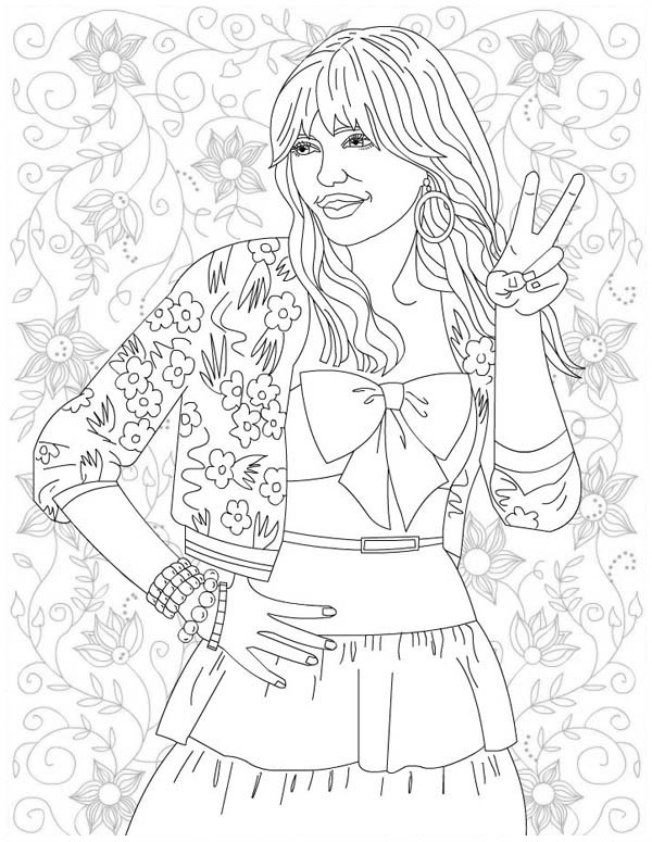 Hannah Montana Forever Coloring Page
