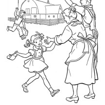 Happy to See Grandparents in Best Health on Gran Parents Day Coloring Page