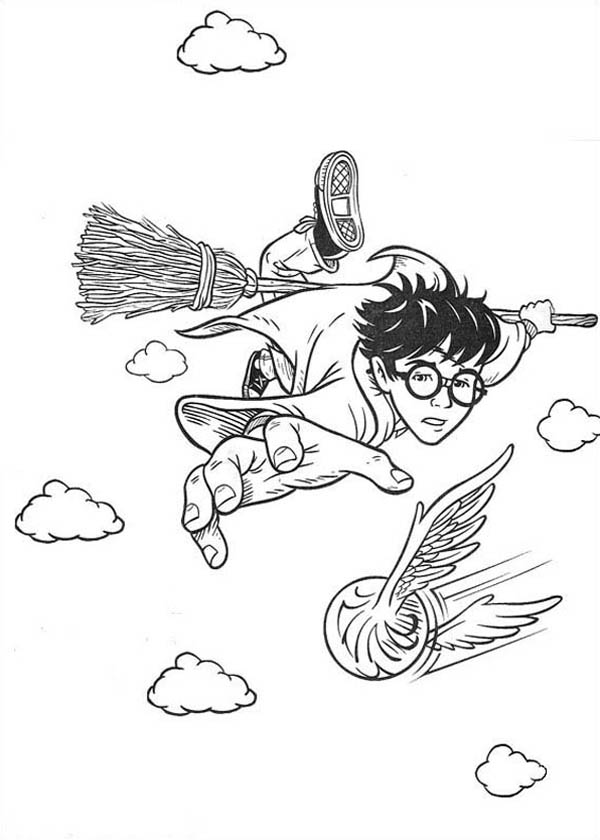 Harry Potter And Crystal Ball Harry Potter Crystal Ball Coloring Pages