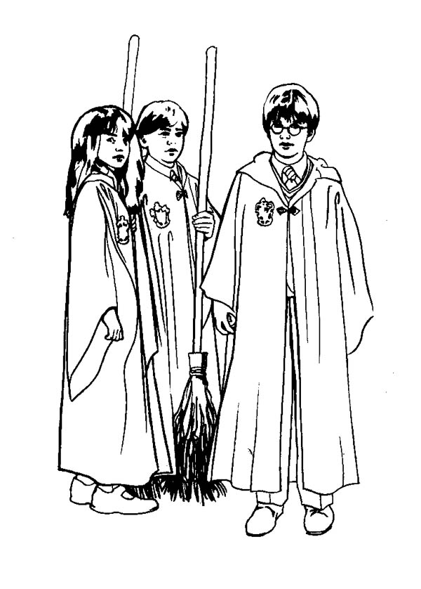 Harry Potter And His Friends Free Coloring Pages