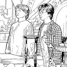 Harry Potter and Ron Weasley Got Detention Coloring Page