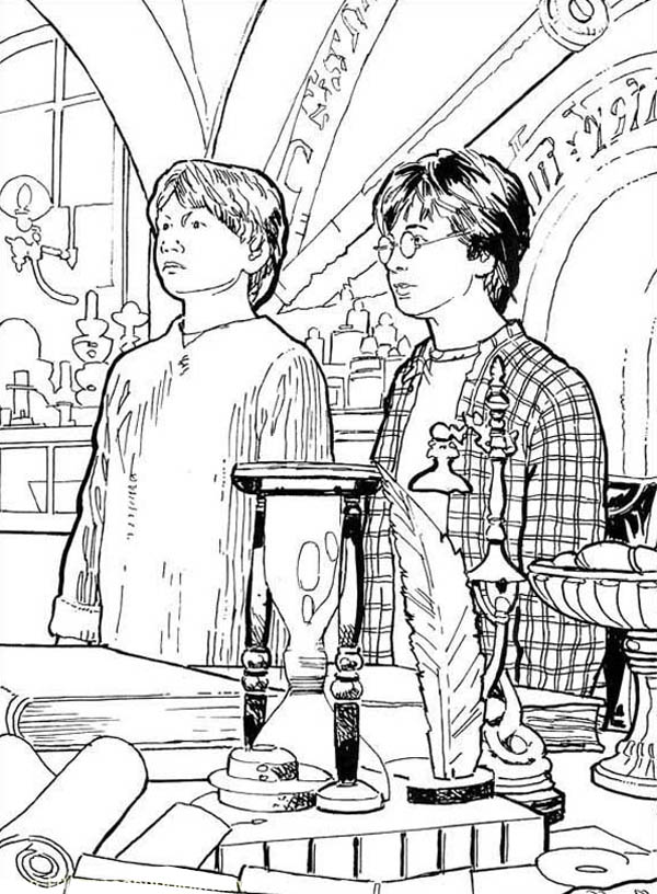 ron weasley coloring pages - photo#30