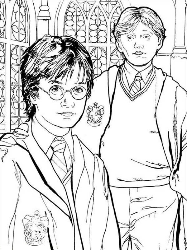 Harry Potter Friends Harry Potter Friends Coloring Pages