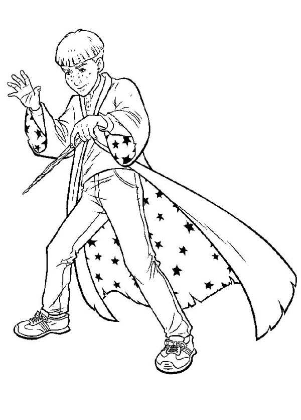 Harry Potter the Witch Coloring Page