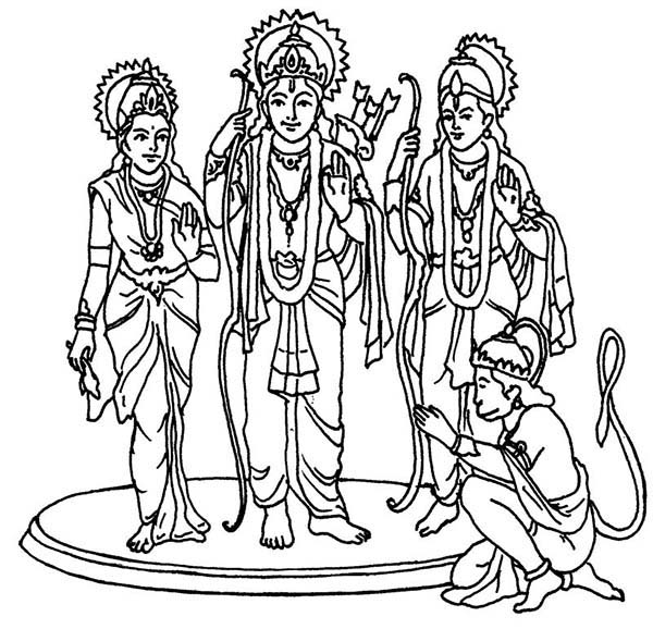 hindu gods printable coloring pages - photo#28