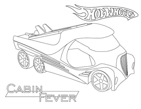 Hot Wheels Cabin Fever Coloring Page NetArt