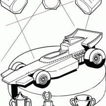 Hot Wheels Champions Car Coloring Page