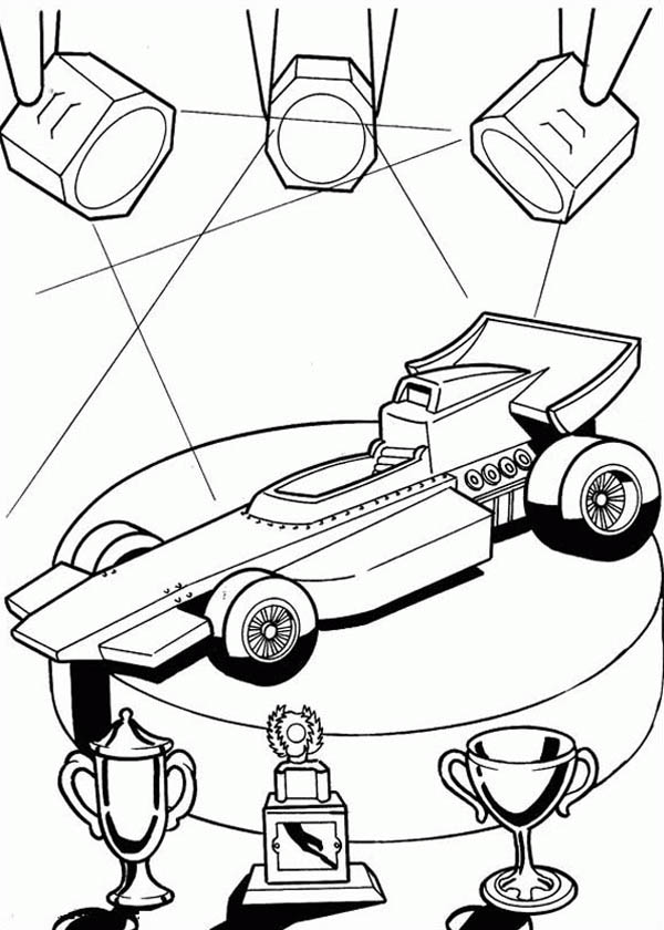 Hot Wheels Champions Car Coloring Page