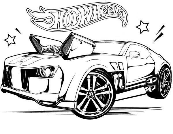 Hot Wheels Coloring Page for Kids NetArt