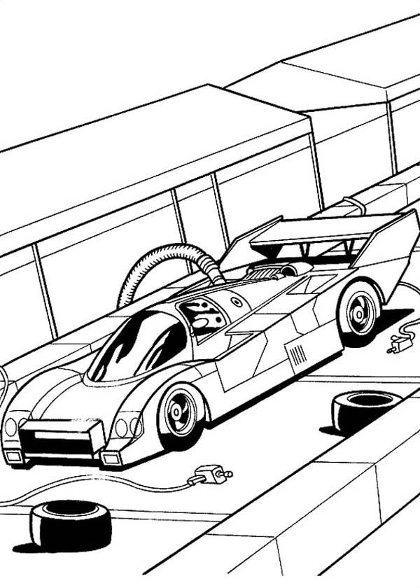 car garage coloring pages - photo#6
