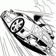 Hot Wheels Fire Tail Coloring Page