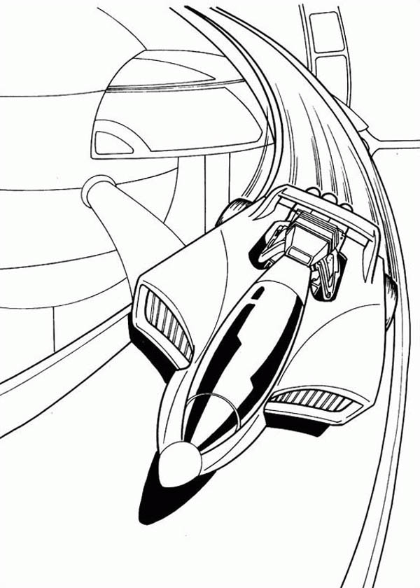 Hot Wheels Futuristic Car Coloring Page