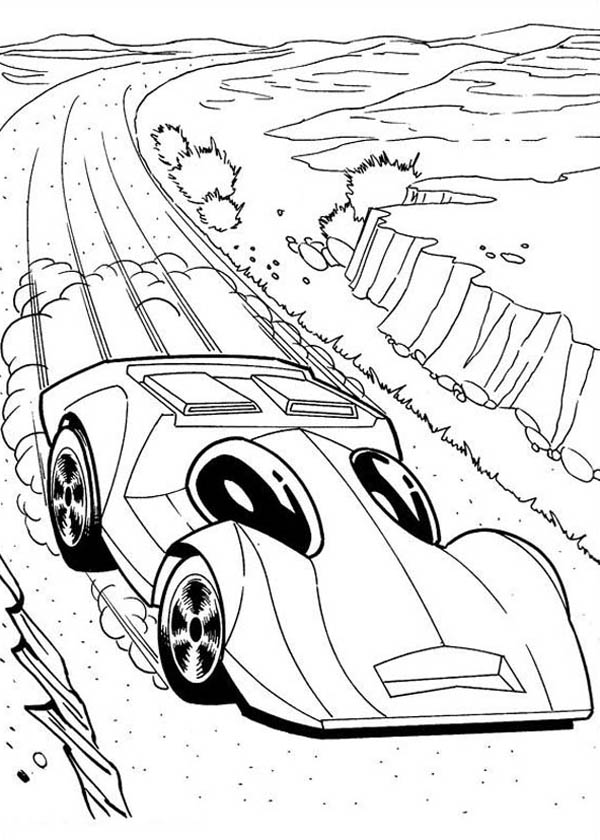 Hot Wheels Lighting Car Coloring Page