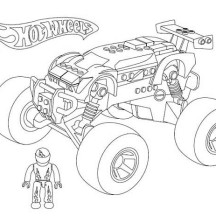 Hot Wheels Monster Car Coloring Page