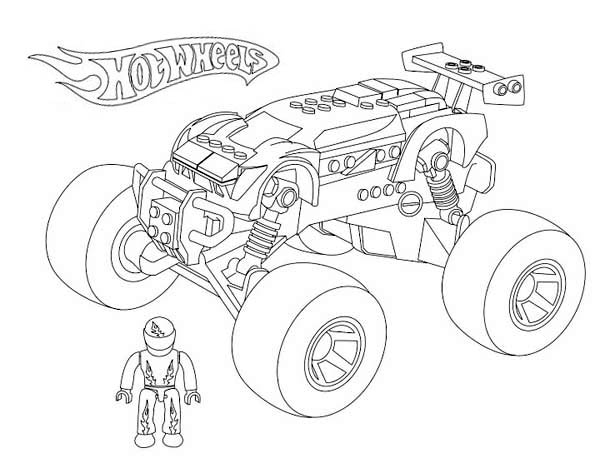 Hot Wheels Monster Car Coloring Page NetArt