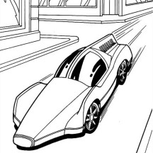 Hot Wheels Solar Car Coloring Page