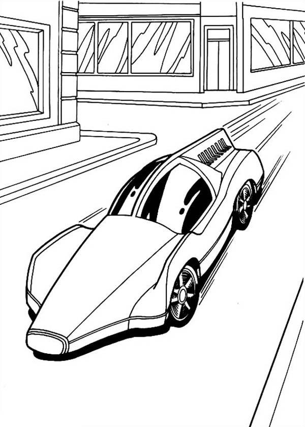 Hot Wheels Solar Car Coloring Page  NetArt