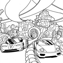 Hot Wheels Super Race Coloring Page