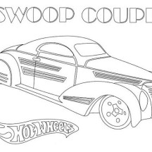 Hot Wheels Swoop Coupe Coloring Page
