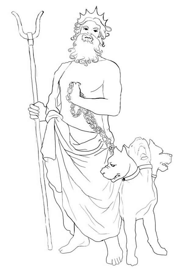How To Draw Hades And Cerberus Coloring Page Netart