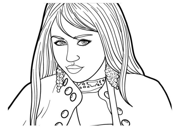 How To Draw Hannah Montana Coloring Page