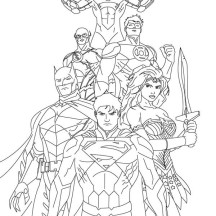 How to Draw Justice League Coloring Page