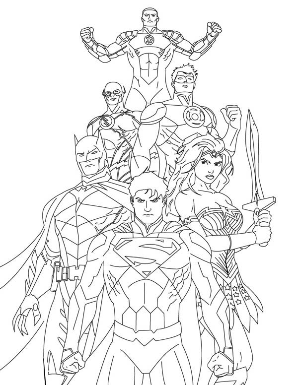 How to Draw Justice League Coloring Page - NetArt
