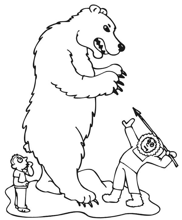 bear hunt coloring pages - photo#24