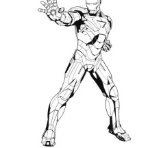 Iron Man Dont Even Try Coloring Page