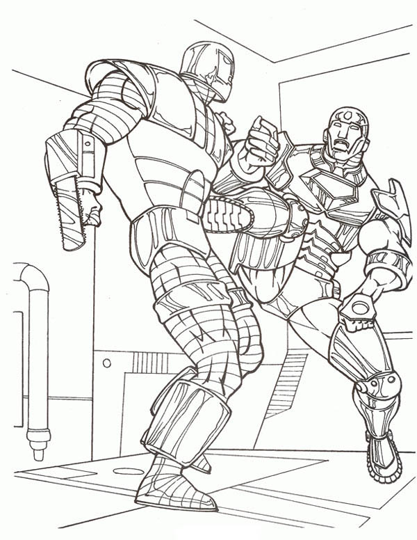 Fighting Robot Coloring PagesRobotPrintable Coloring Pages Free