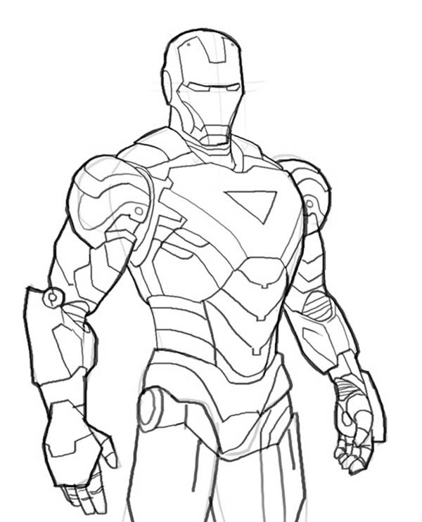 Iron Man Mark 6 Coloring Page NetArt