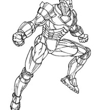 Iron Man Ready for Battle Coloring Page