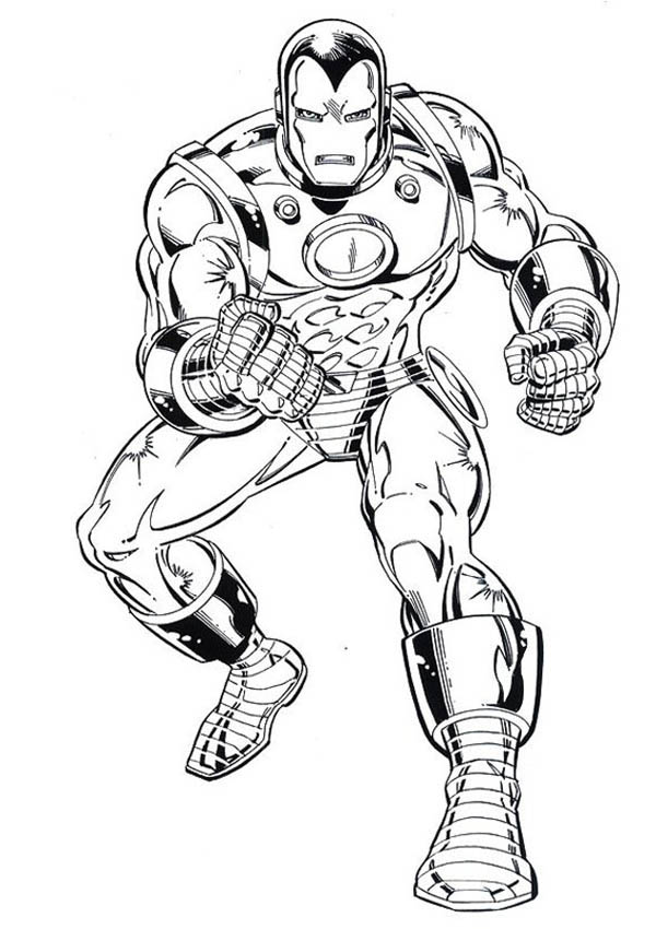 iron man tank heavy combat suit coloring page - Coloring Pages Superheroes Ironman