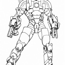 Iron Man War Machine Type Coloring Page