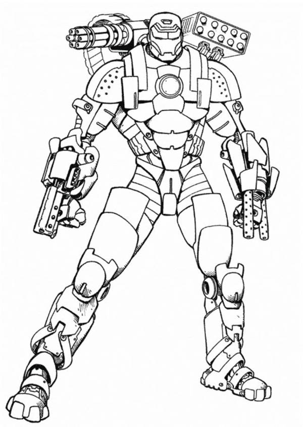 Iron Man Mark  Coloring Pages #7