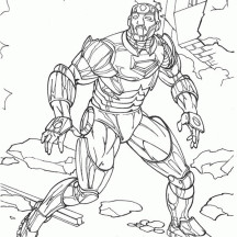 Iron Man at Buliding Ruins Coloring Page