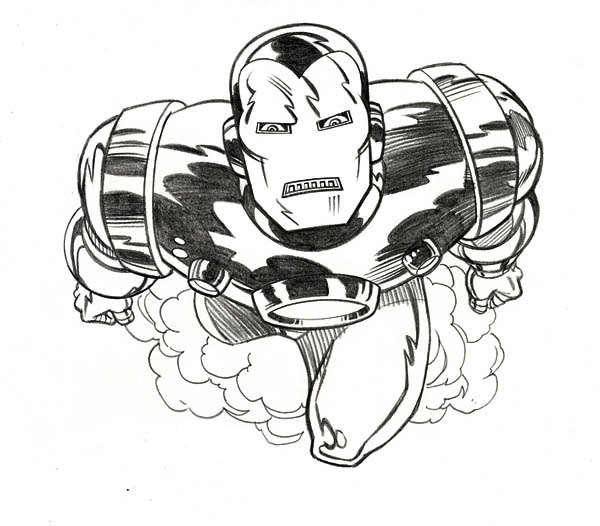 Iron Man is so Angry Coloring Page