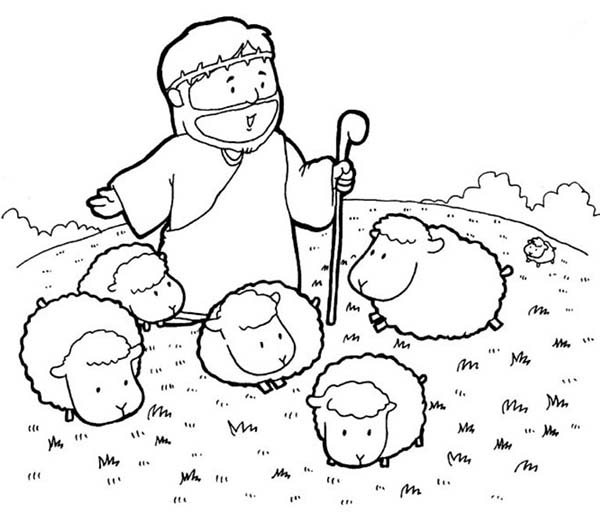 Jesus Christ With Children Coloring Page