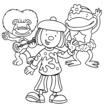 Jojo and Friends Singing Together in Jojo's Circus Coloring Page