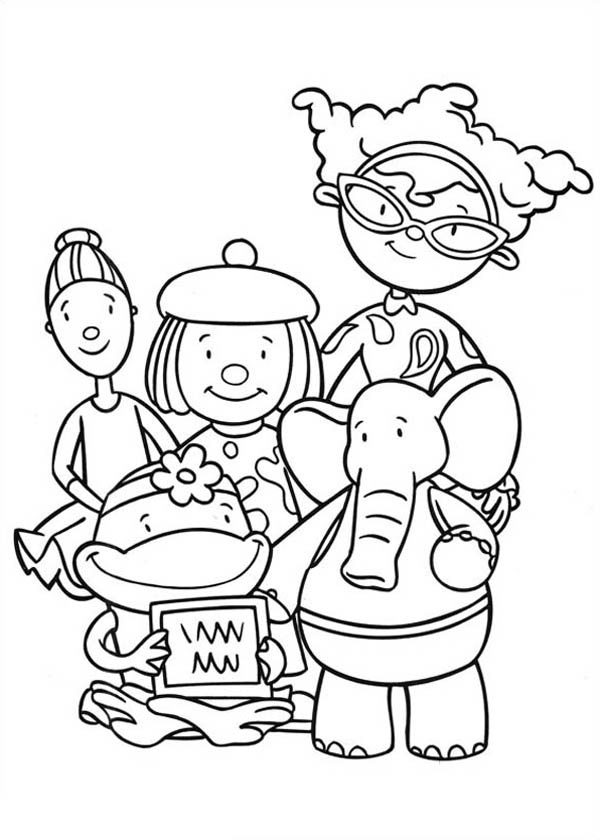 Jojo's Circus Characters Coloring Page