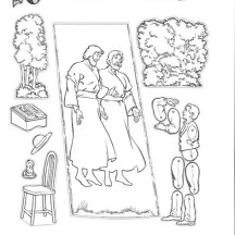 Joseph Smith First Vision at the Hill Cumorah Coloring Page